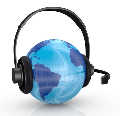 Globe and headset