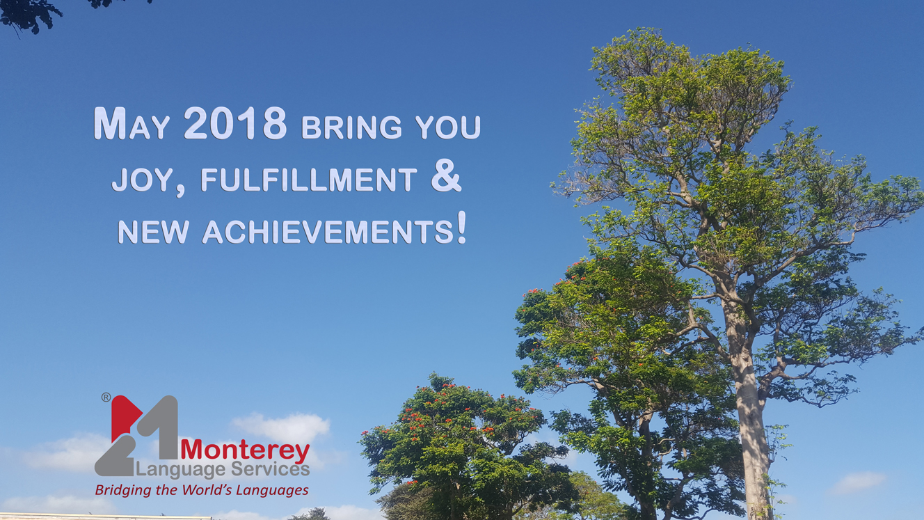 Monterey Language Services Greetings for 2018